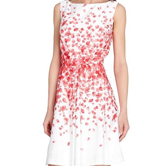 c15b6d2832c37 Tahari Floral Print Fit & Flare Dress. M_5b8f360504ef509e793b46a1